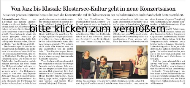 Klostersee Kultur